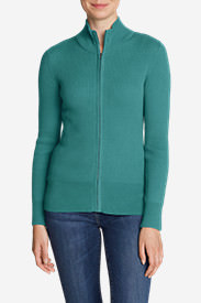 Women's Medina Zip Cardigan Sweater in Blue