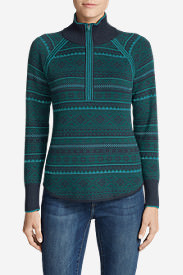 Women's Engage Fair Isle 1/4-Zip Sweater in Blue