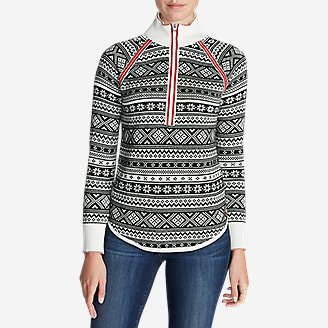 Women's Engage Fair Isle 1/4-Zip Sweater in White