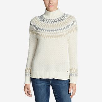 Women's Arctic Fair Isle Sweater in White