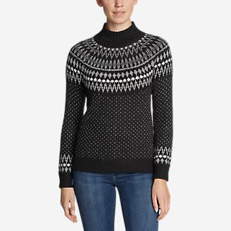 Women's Arctic Fair Isle Sweater in Gray