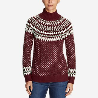 Women's Arctic Fair Isle Sweater in Red
