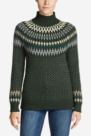 Women's Arctic Fair Isle Sweater in Green