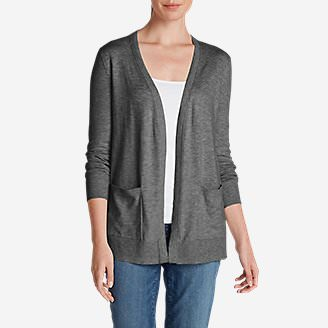 Women's Christine Boyfriend Cardigan Sweater in Gray