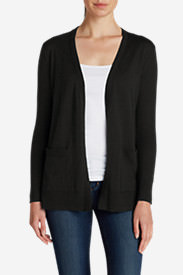 Women's Christine Boyfriend Cardigan Sweater in Black
