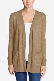 Women's Christine Boyfriend Cardigan Sweater in Beige