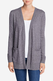 Women's Christine Boyfriend Cardigan Sweater in Purple