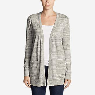 Women's Christine Boyfriend Cardigan Sweater in White