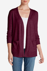 Women's Christine Boyfriend Cardigan Sweater in Red