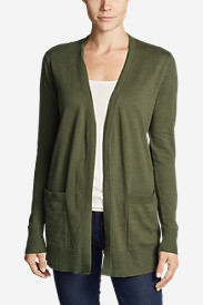 Women's Christine Boyfriend Cardigan Sweater in Green