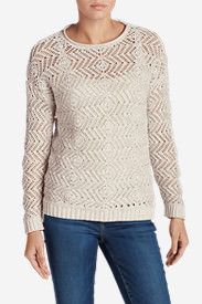 Women's Peakaboo Pullover Sweater in White