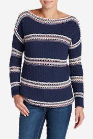 Women's Peakaboo Stripe Pullover Sweater in Blue