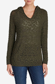Women's Westbridge Hooded Sweater - Solid in Green