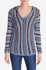 Women's Baja Hooded Sweater - Stripe in Multi