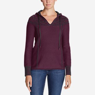 Women's Shasta Cable Hoodie Sweater in Purple