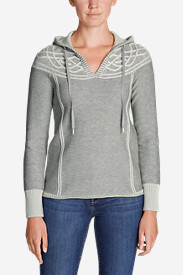 Women's Shasta Cable Hoodie Sweater in Beige