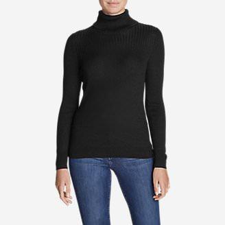 Women's Flightplan Turtleneck Sweater in Black