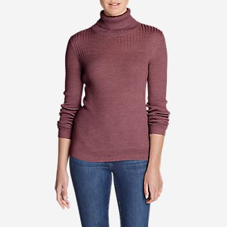 Women's Flightplan Turtleneck Sweater in Red