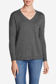 Women's Christine Pocket Pullover Sweater in Gray