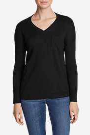 Women's Christine Pocket Pullover Sweater in Black