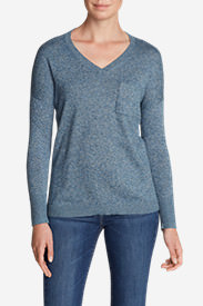 Women's Christine Pocket Pullover Sweater in Blue