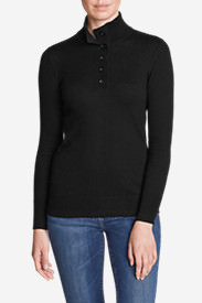 Women's Christine Henley Sweater in Black