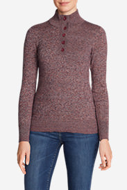 Women's Christine Henley Sweater in Red