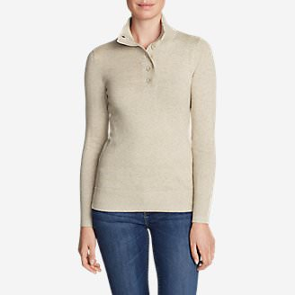 Women's Christine Henley Sweater in Beige