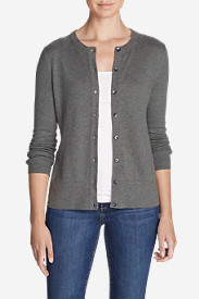 Women's Christine Travel Cardigan Sweater in Gray