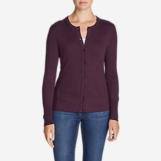 Women's Christine Travel Cardigan Sweater in Purple