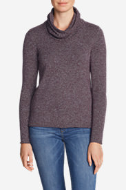 Women's Sweatshirt Sweater - Cowl-Neck in Purple