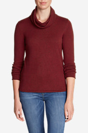 Women's Sweatshirt Sweater - Cowl-Neck in Red