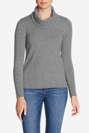 Women's Sweatshirt Sweater - Cowl-Neck in Gray