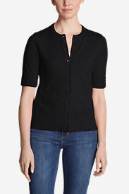 Women's Christine Elbow Cardigan Sweater in Black