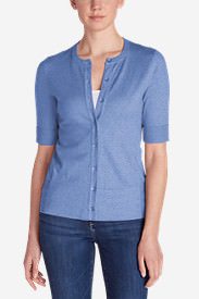 Women's Christine Elbow Cardigan Sweater in Blue