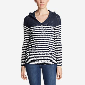 Women's Westbridge Hoodie Sweater - Stripe in Blue