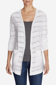 Women's Fiona Boyfriend Cardigan Sweater - Solid in White