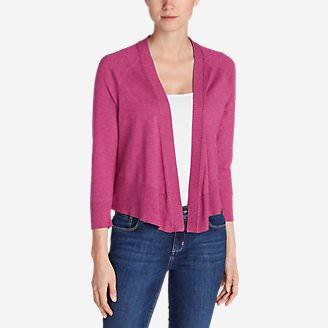 Women's San Juan 3/4-Sleeve Cardigan Sweater in Pink