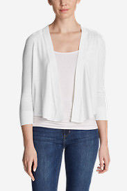 Women's San Juan 3/4-Sleeve Cardigan Sweater in White