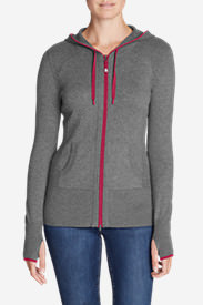 Women's Engage Full-Zip Hoodie Sweater in Gray