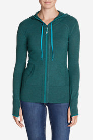 Women's Engage Full-Zip Hoodie Sweater in Green