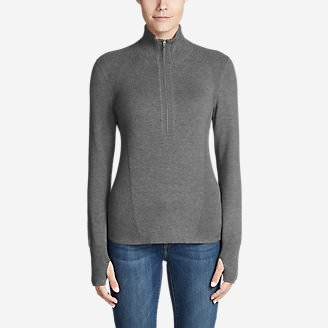 Women's Engage 1/4-Zip Sweater in Gray