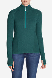 Women's Engage 1/4-Zip Sweater in Green