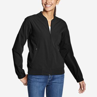 Women's Voyager Bomber Jacket in Black