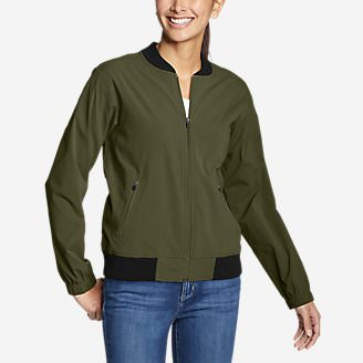 Women's Voyager Bomber Jacket in Green