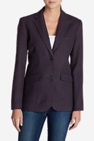 Women's Classic Wool-Blend Blazer - Pattern in Purple