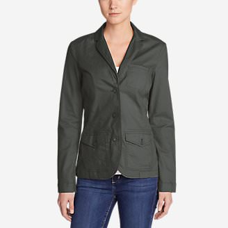 Women's Legend Wash Stretch Blazer in Gray