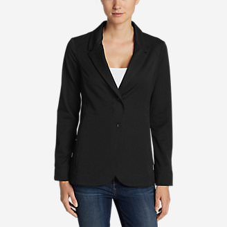 Women's Travel Blazer in Black