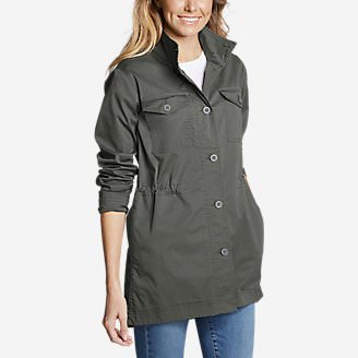 Women's Kick Back Twill Jacket in Green