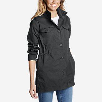 Women's Kick Back Twill Jacket in Gray
